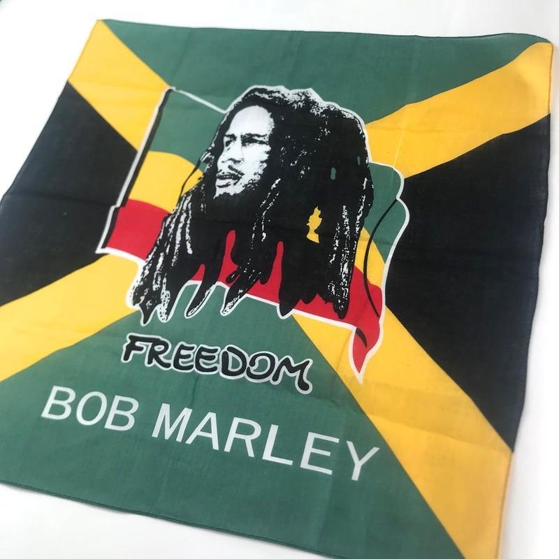 ジャマイカ直輸入  BOB MARLY ハンカチ バンダナ