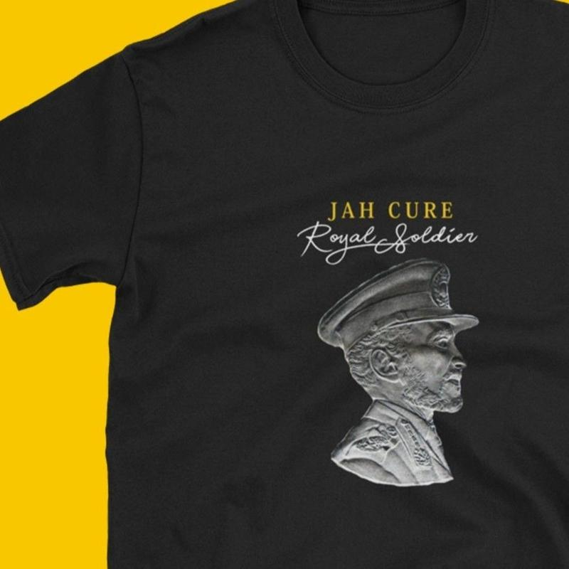 ジャマイカ直輸入  JAH CURE 【Royal Soldier - Haile Selassie  】T-SHIRTS