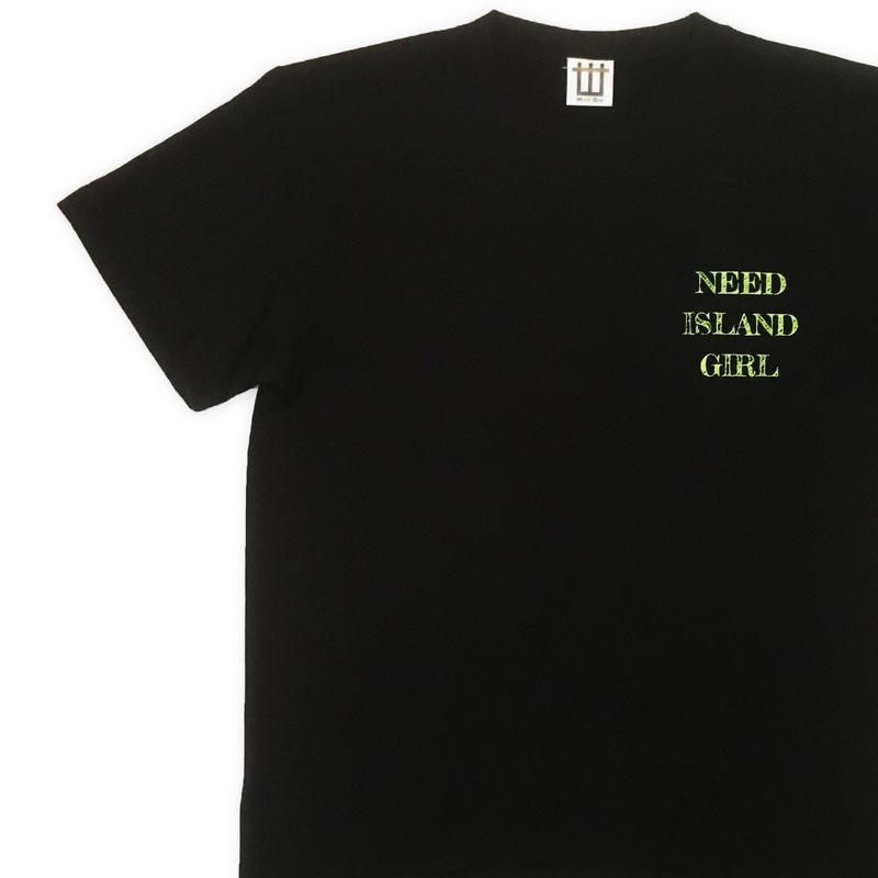 WORLD ONE【NEED ISLAND GIRL TEE】(BLACK)