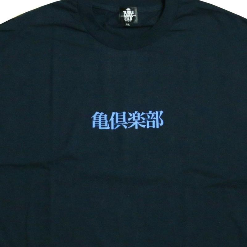 TURTLE MAN's CLUB T-SHIRTS   [NAVY/LIGHT BLUE]