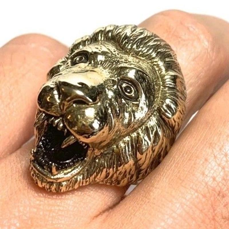 海外直輸入!ラスタ「LION HEAD RING(ライオンヘッドリング)」※数量限定