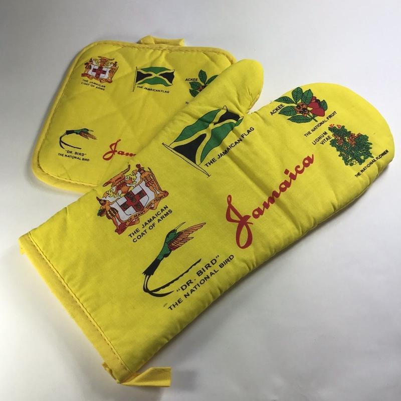 ジャマイカ直輸入 鍋つかみ(ミトン)&鍋敷き