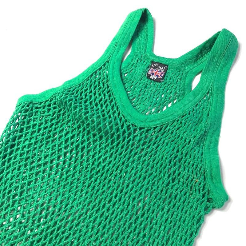 年中ラガマフィン!ジャマイカ直輸入  アミシャツ【CRYSTAL】 GREEN サイズ XL