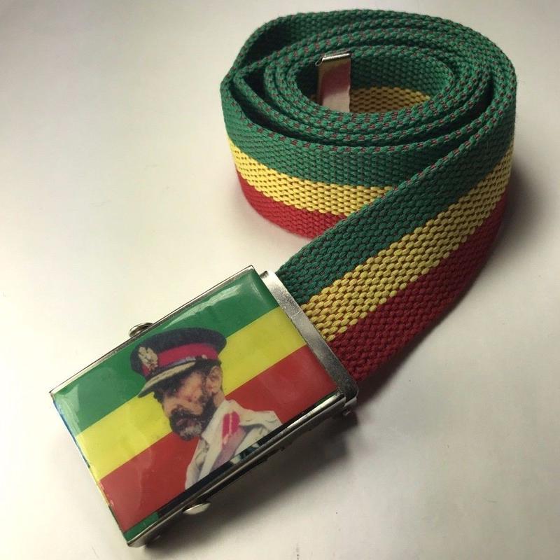 ジャマイカ直輸入  ラスタカラーベルト セラシアイ