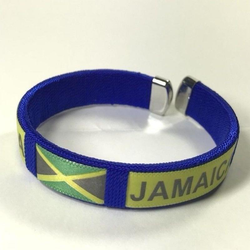 ジャマイカ直輸入  JAMAICA柄ブレスレット BLUE