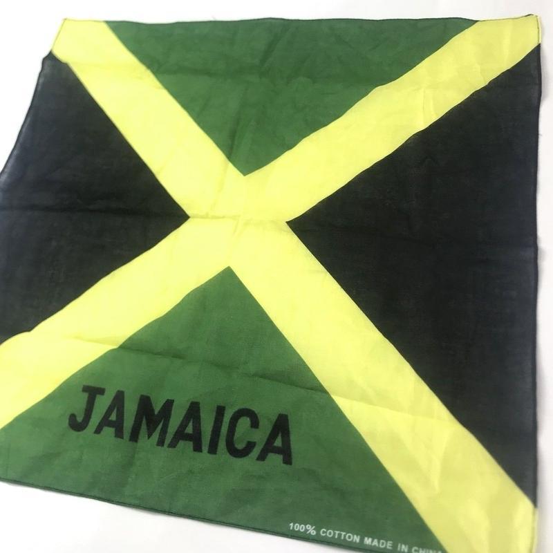 ジャマイカ直輸入  ジャマイカ国旗柄ハンカチ バンダナ