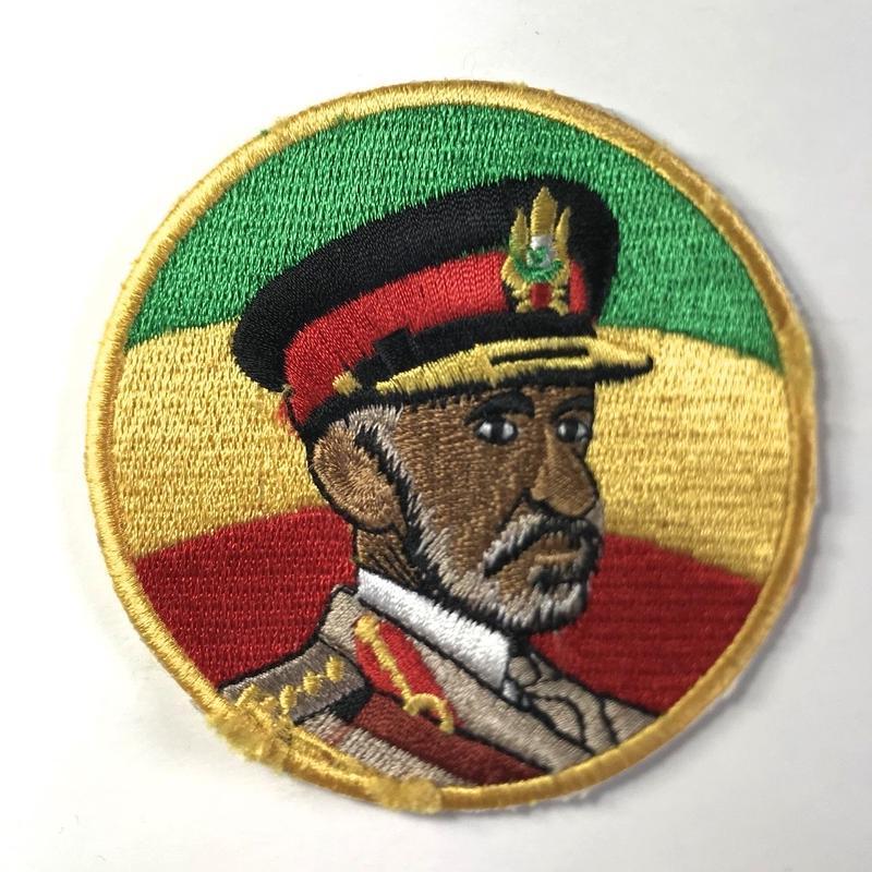 ジャマイカ直輸入 ワッペン SELASSIE I アイロン圧着可能