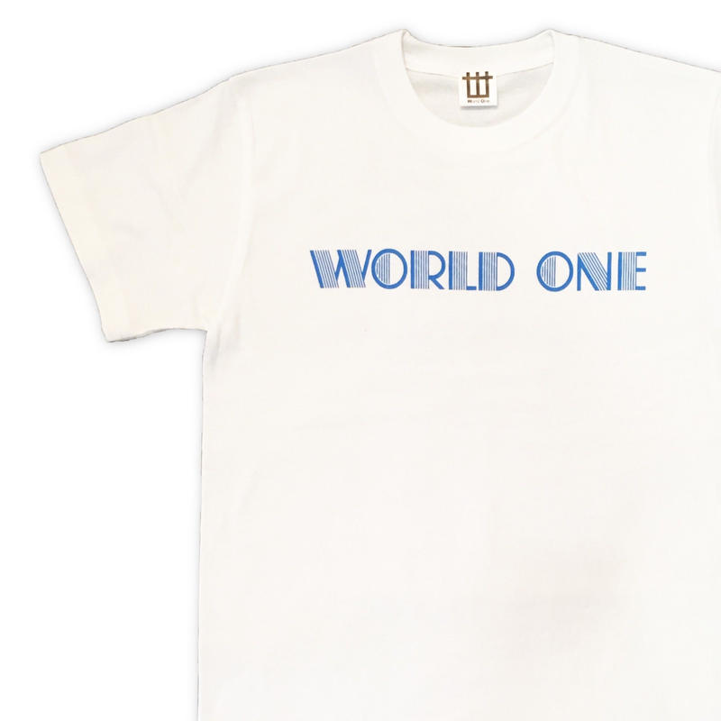 WORLD ONE【NEON LOGO TEE】(WHITE)