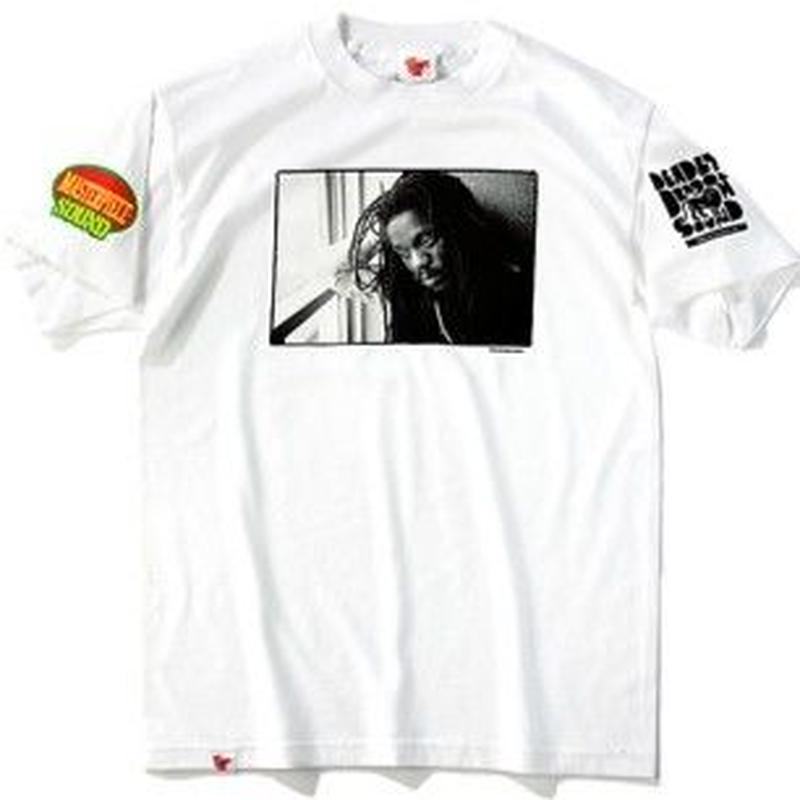 デッドストック 激レア「DENNIS BROWN OFFICIAL T- SHIRTS   」(WHITE)