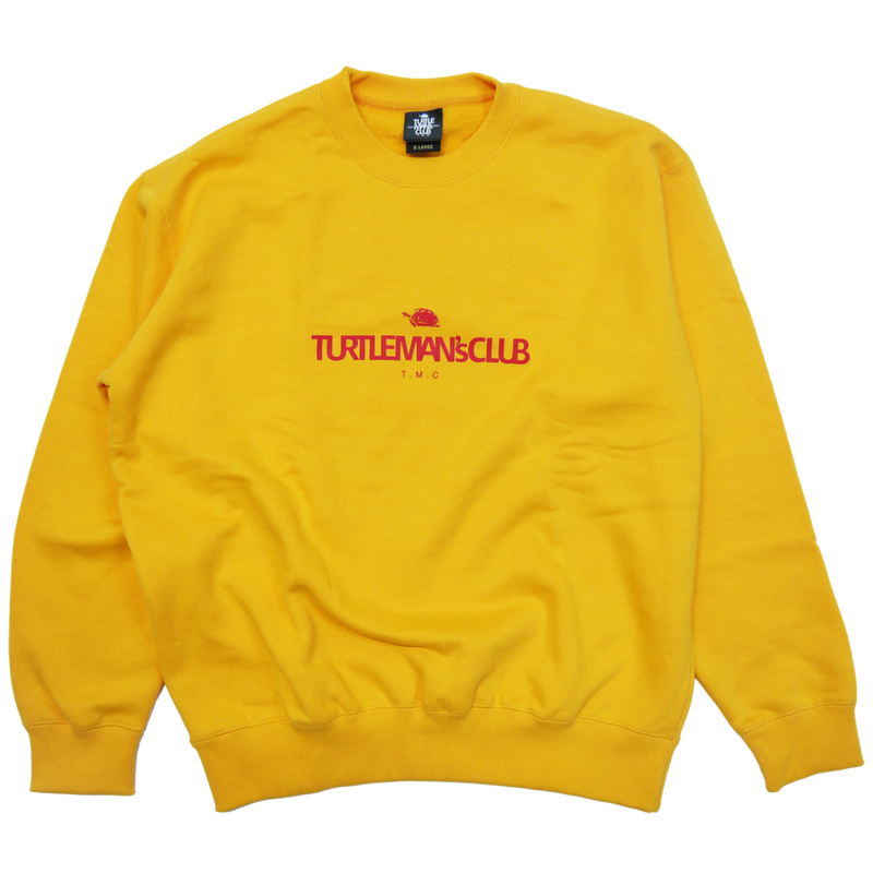 TURTLE MAN's CLUB SWEAT SHIRT[YELLOW]