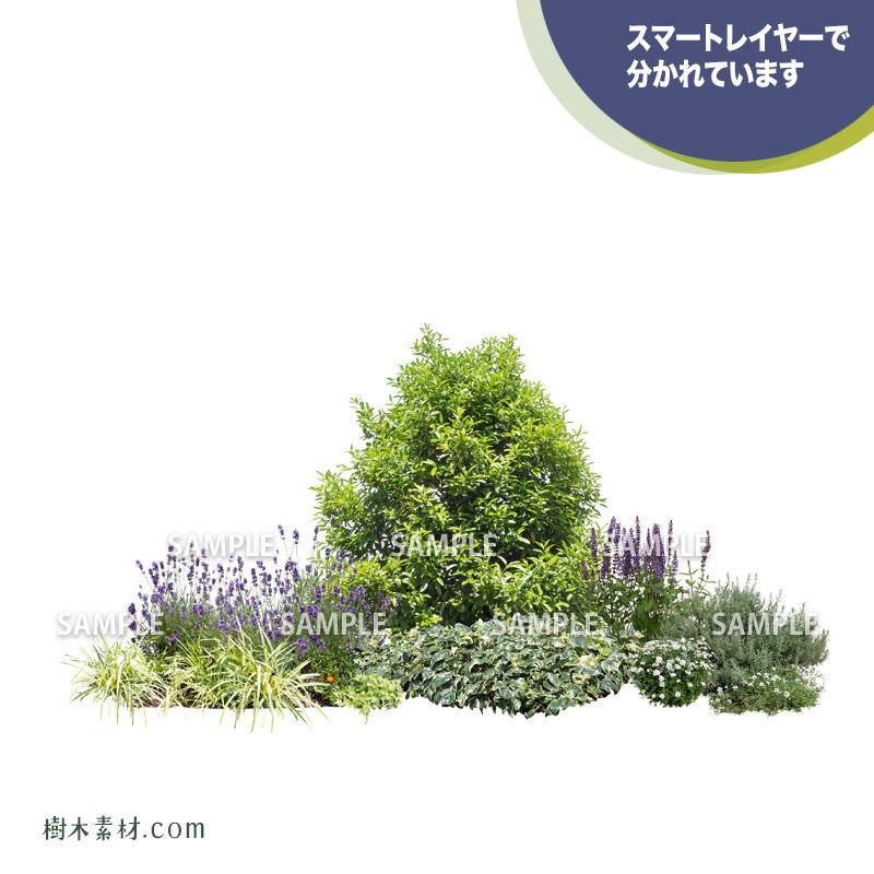 ガーデン植栽パースセット  GP004_06