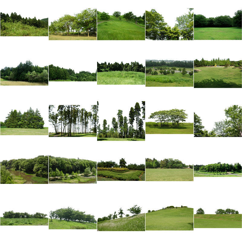 無料-背景樹木素材セット 56個 free_haikei