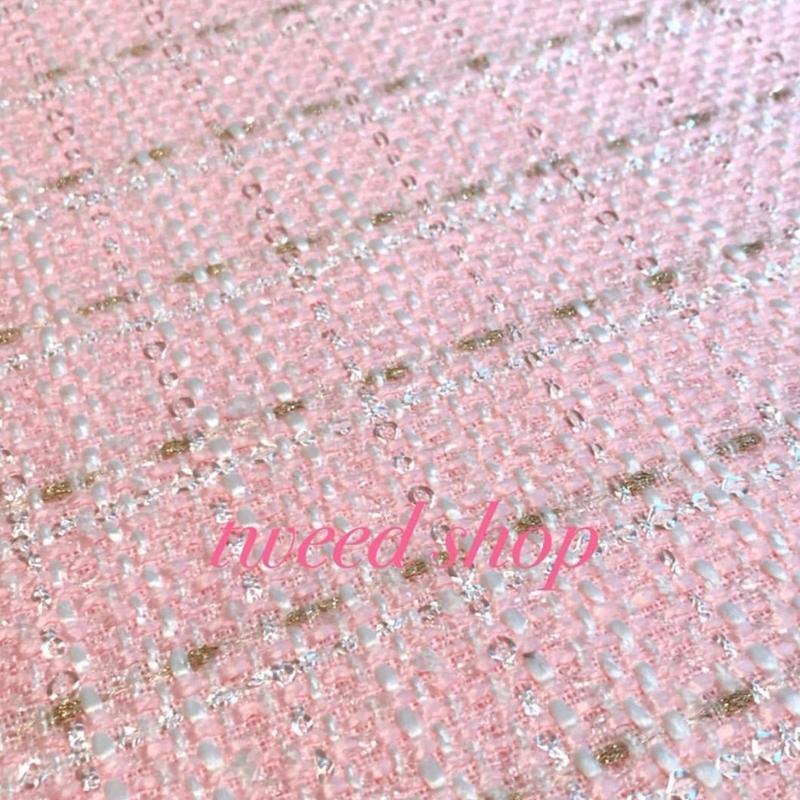 カラーツイード ピンク