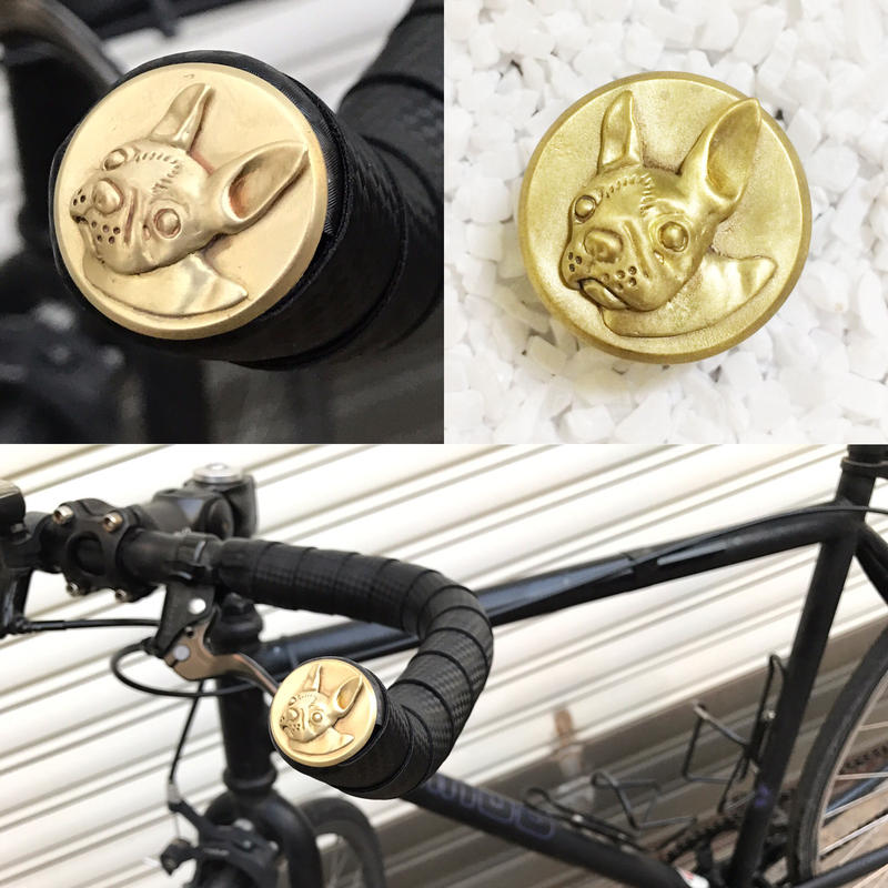 Bar end plugs - Boston Terrier (pair)