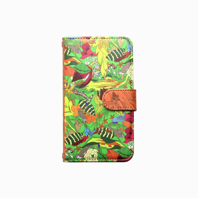 Smartphone case-Animal world-ミラー&チェーン付きタイプ