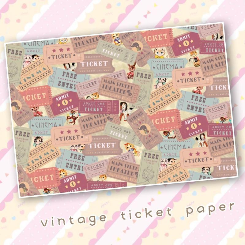 No.90 vintage ticket pepar