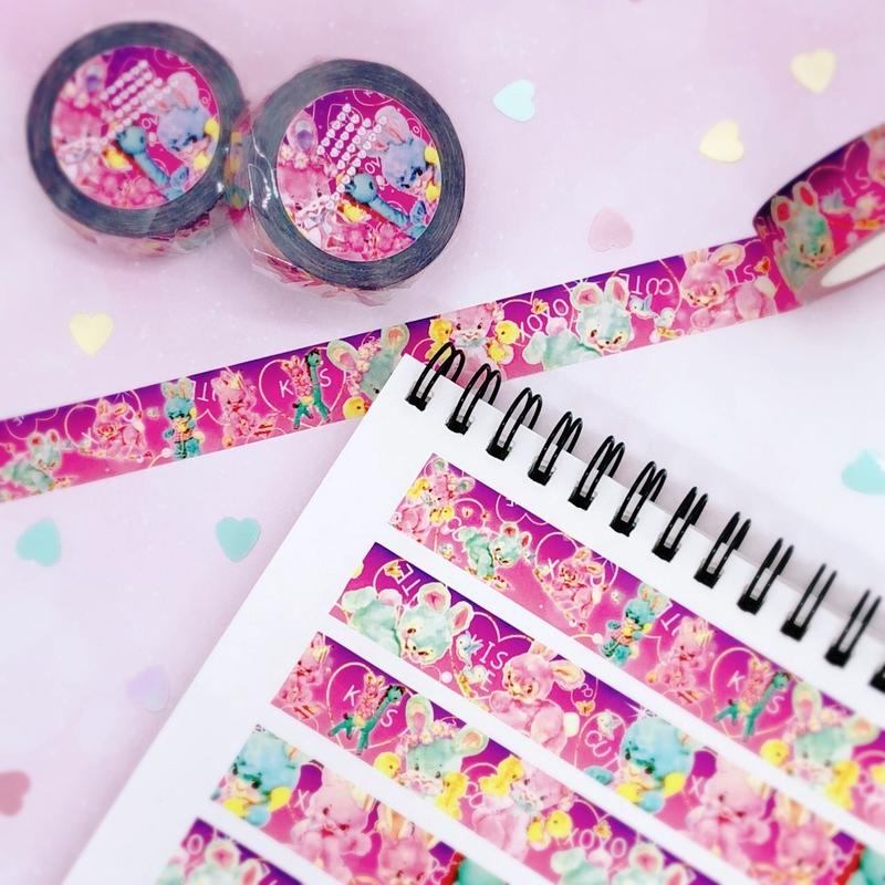№12 animal candy hearts maskingtape
