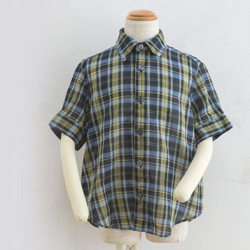 new sleeve shirts チェック(160cm)