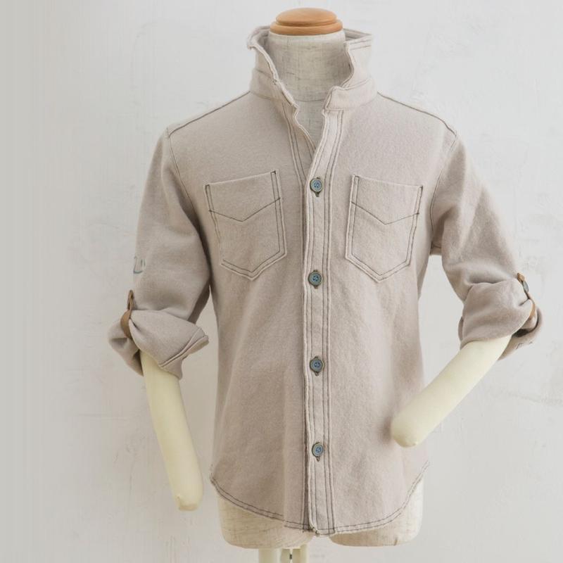 Shirts BEIGE圧縮ウール