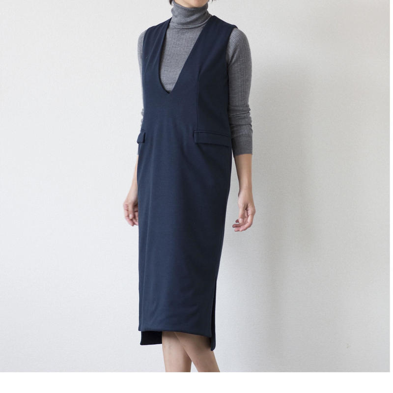 mama dress ジャンパースカート(ネイビー)