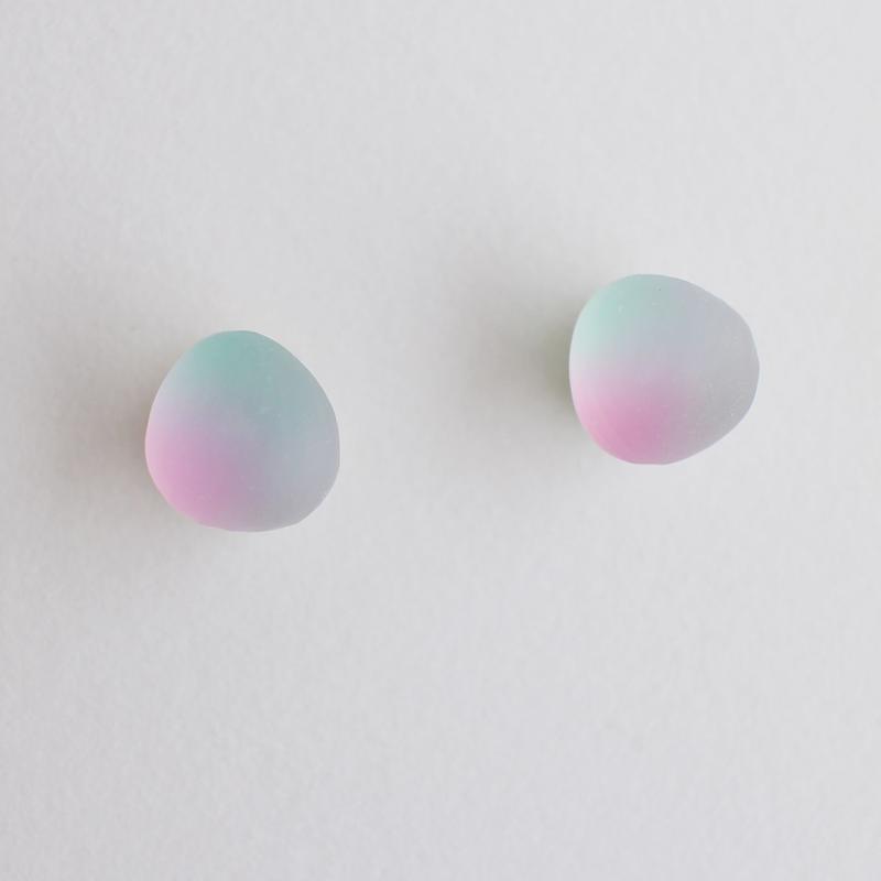 matsurica glass 【pebble】ピアス