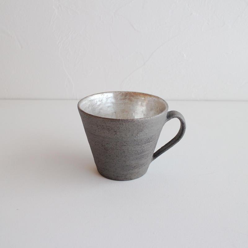 谷井直人 黒×銀彩 マグカップ