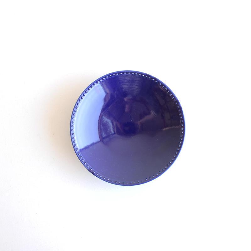 前田麻美 瑠璃釉リムドット皿