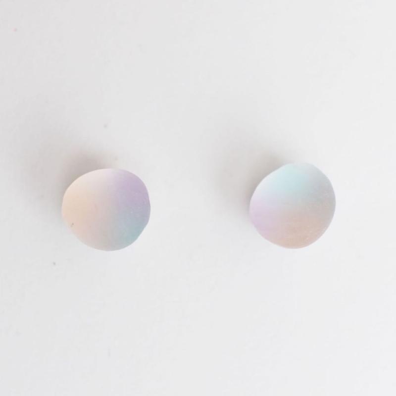matsurica glass 【pebble】ピアス②