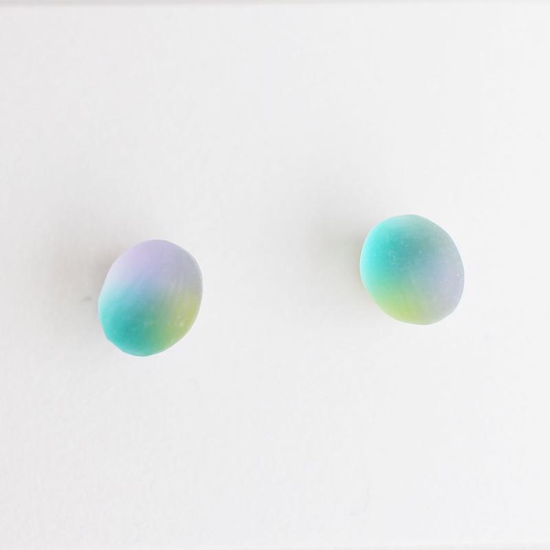 matsurica glass 【pebble】ピアス④