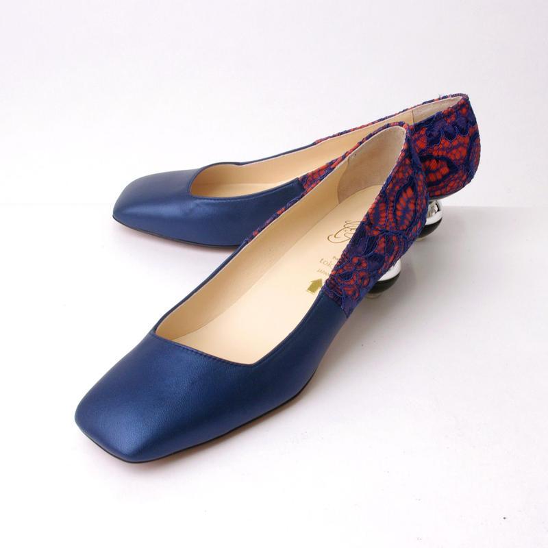 toy heel パンプス ブルー**25.0cmのみ**