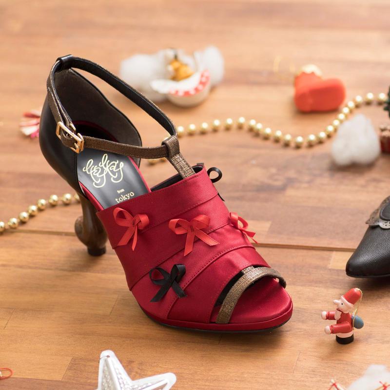 Tree shoes**レッド×ブラック**22.0・22.5・23.0・23.5・24.0・24.5・25.0