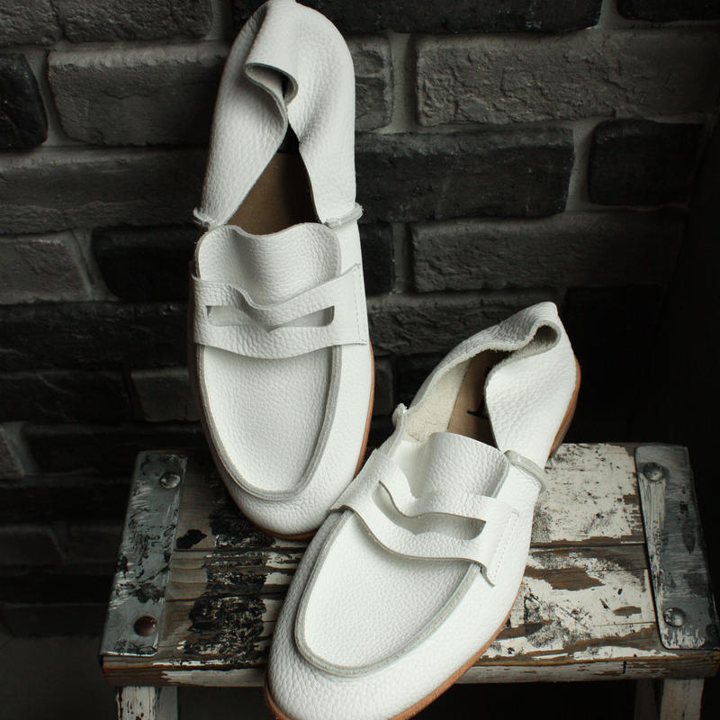 【OUTLET】LOAFER  WHITE(SIZE 7)
