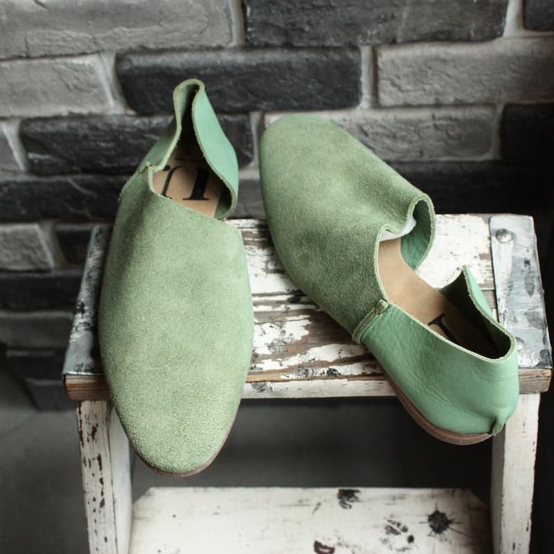 【OUTLET】2P SLIPON  FOREST GREEN(SIZE 8)