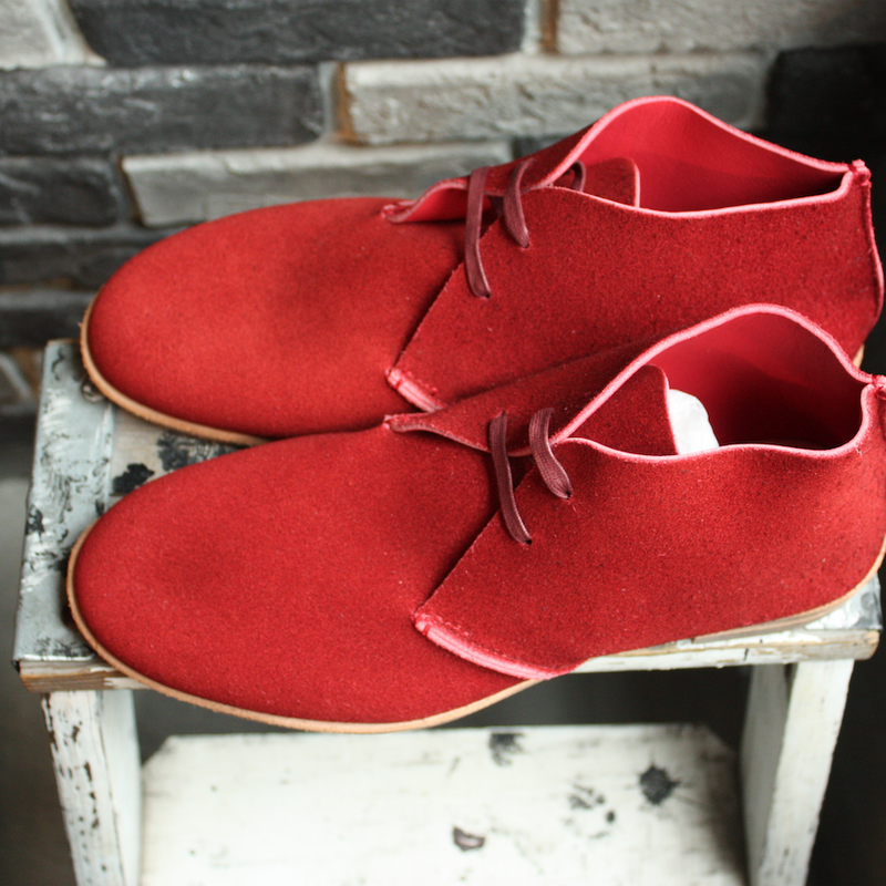 【OUTLET】CHUKKA  BOOTS  DARK  RED(SIZE 8)
