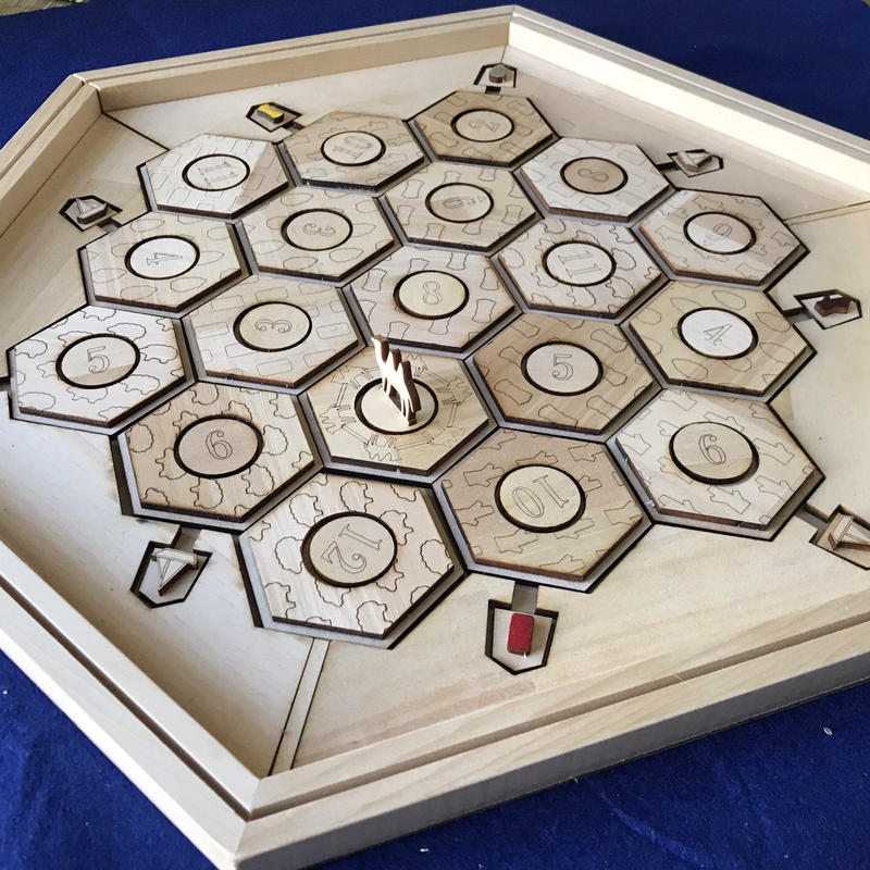 wooden game board