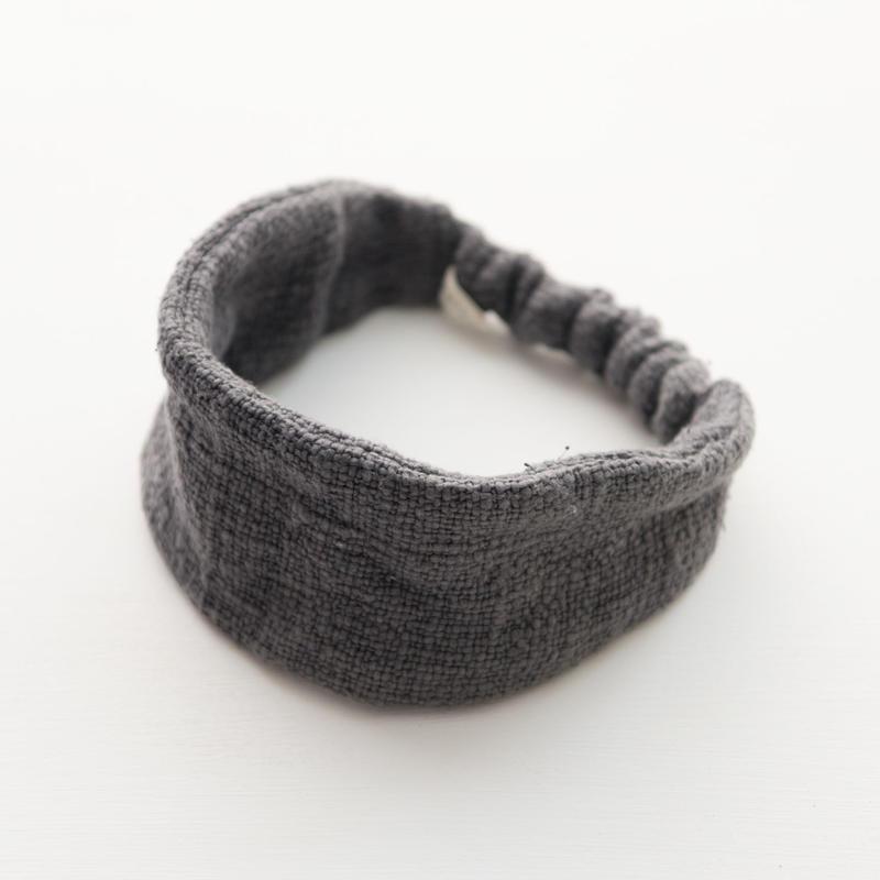 ORGANIC COTTON  hair band  straight   Gray