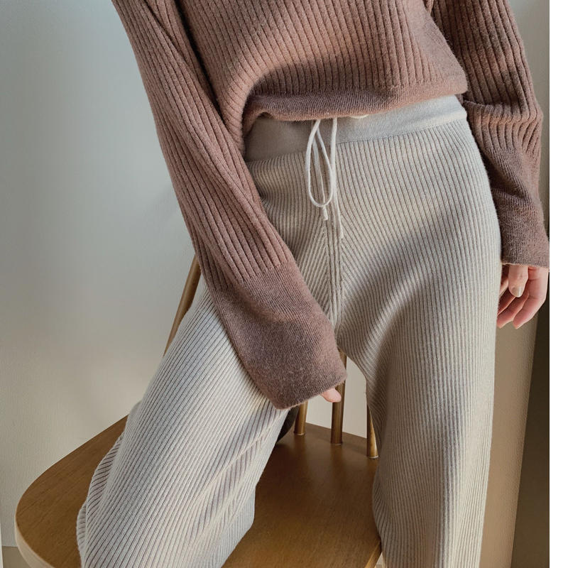 knit leggings pants/beige