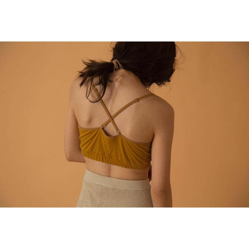 back cross bra top(MASTARD)