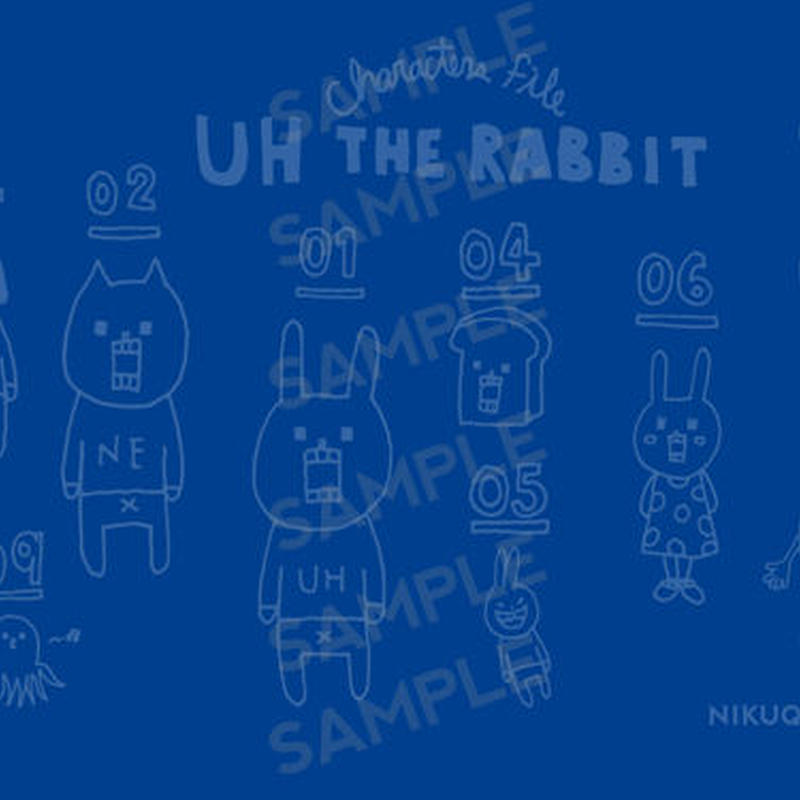 "[ud_001] DLデータ PC用壁紙 ""UH THE RABBIT"" 【blue】"