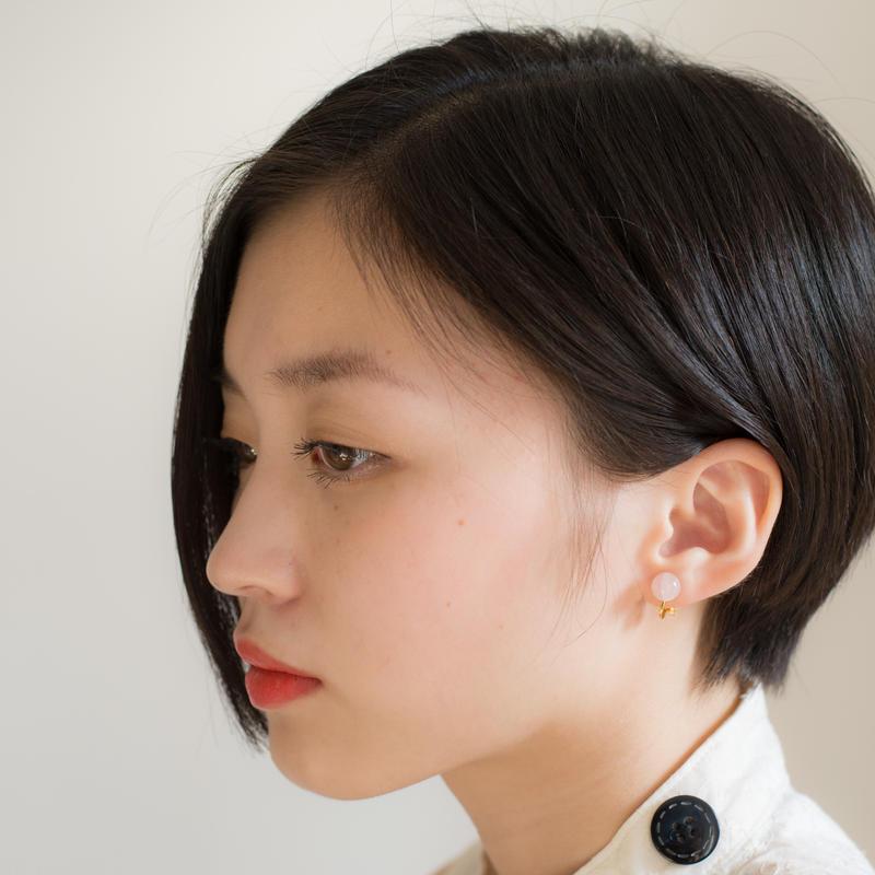 Maru Earring PINK  マルイヤリング ピンク