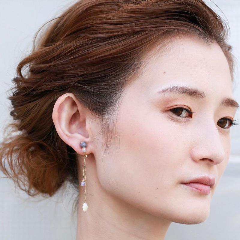 NEW MIE EARRING PURPLE ニューミーイヤリングパープル