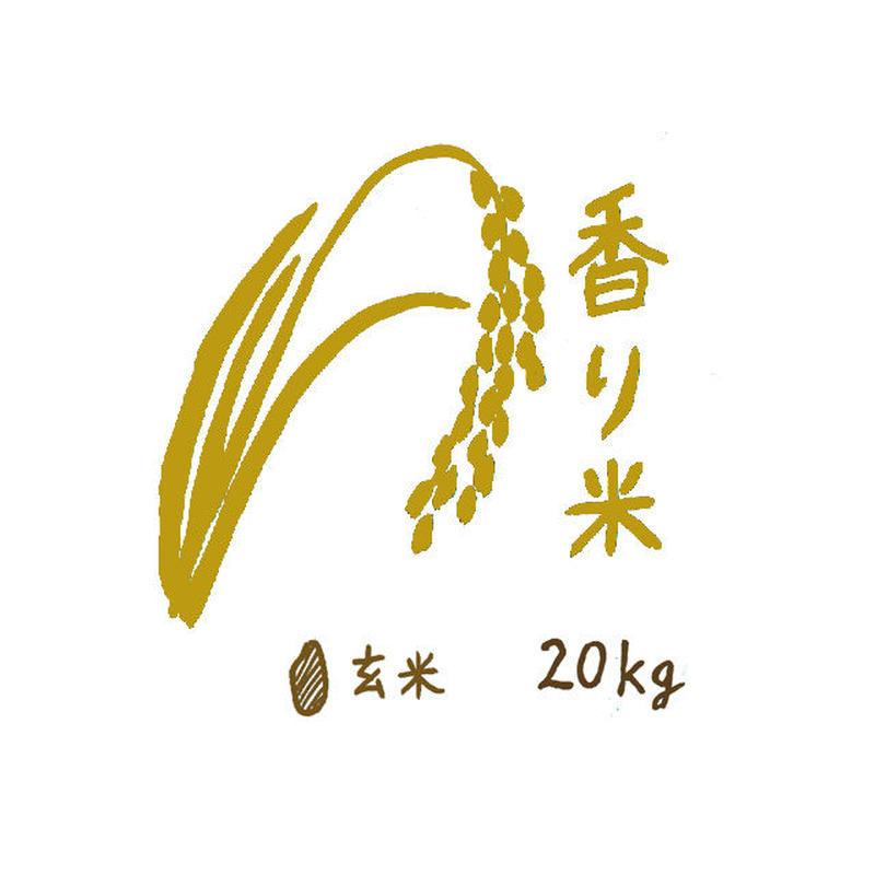 自然栽培 香り米 玄米20kg 2018年度産