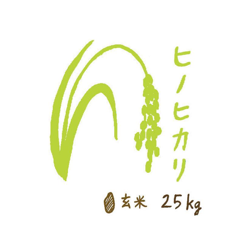 自然栽培米 ヒノヒカリ 玄米25kg 2018年度産