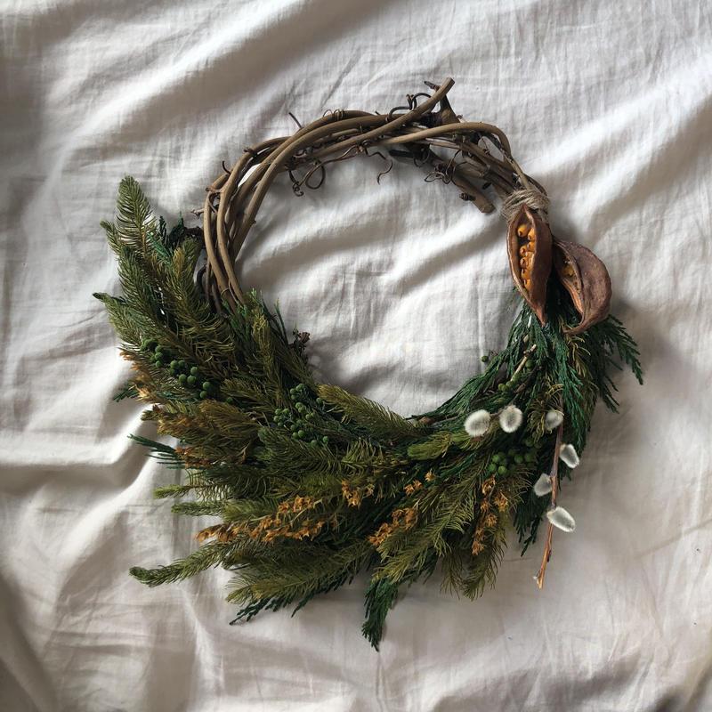 Forest rich half  wreath
