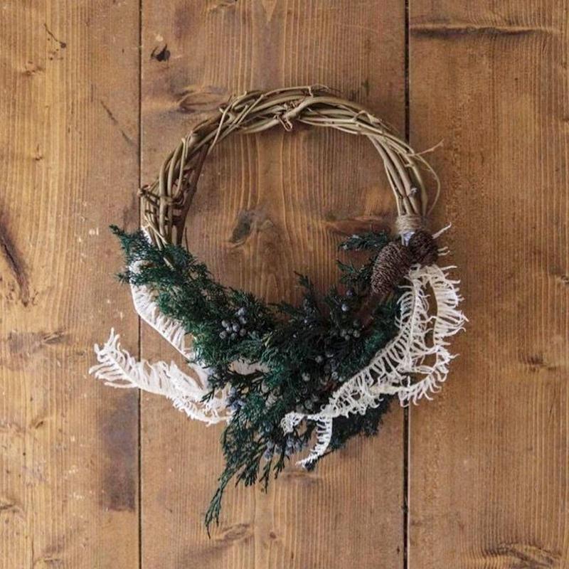 Forest angel half wreath