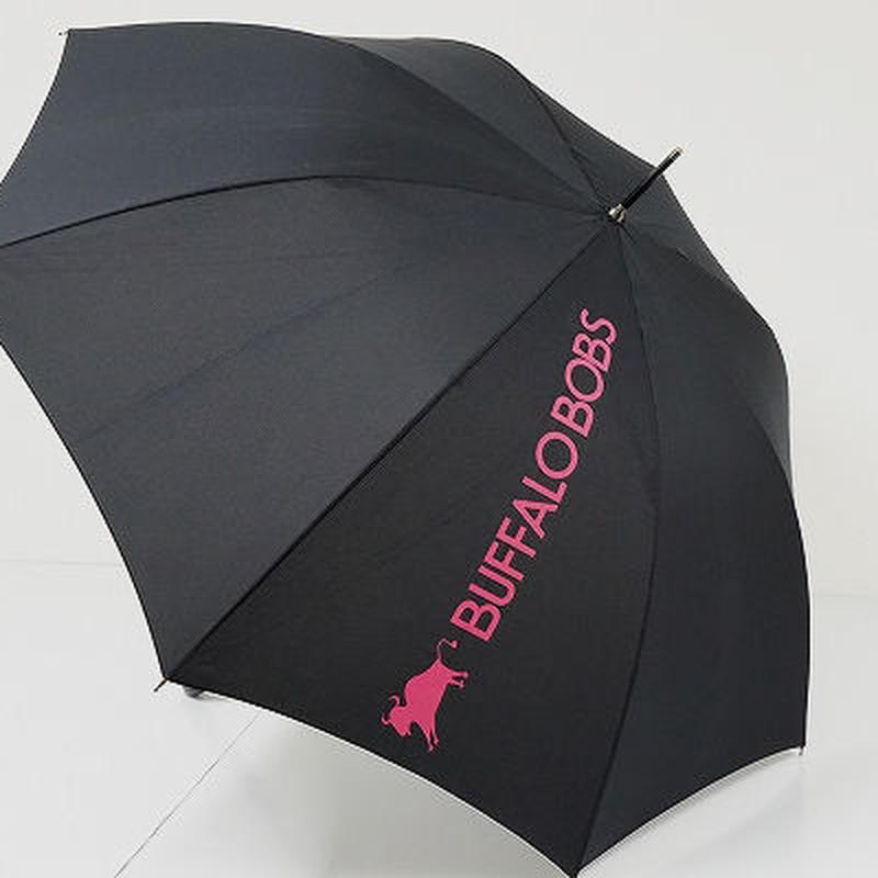 A9510 BUFFALO BOBS バッファローボブズ 紳士傘 USED超美品 ロゴ 60cm 中古 ブランド