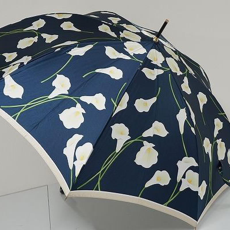A9521 HANAE MORI ハナエモリ 傘 USED極美品 フェミニン カラー 58cm 中古 ブランド