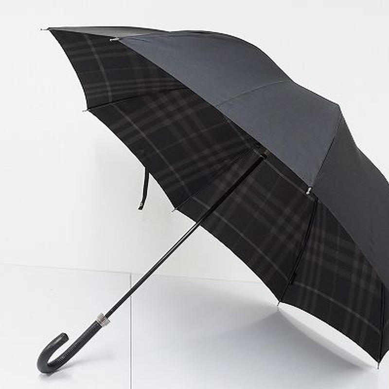 S0818 BURBERRY バーバリー 紳士傘 USED超美品 バックチェック 大判 65cm 中古 ブランド