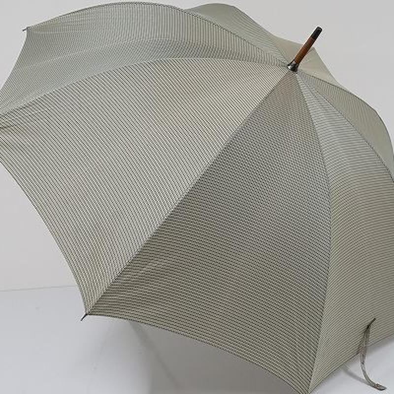 A0827 cK カルバンクライン 紳士傘 USED美品 チェック 格子 大判 65cm 中古 ブランド