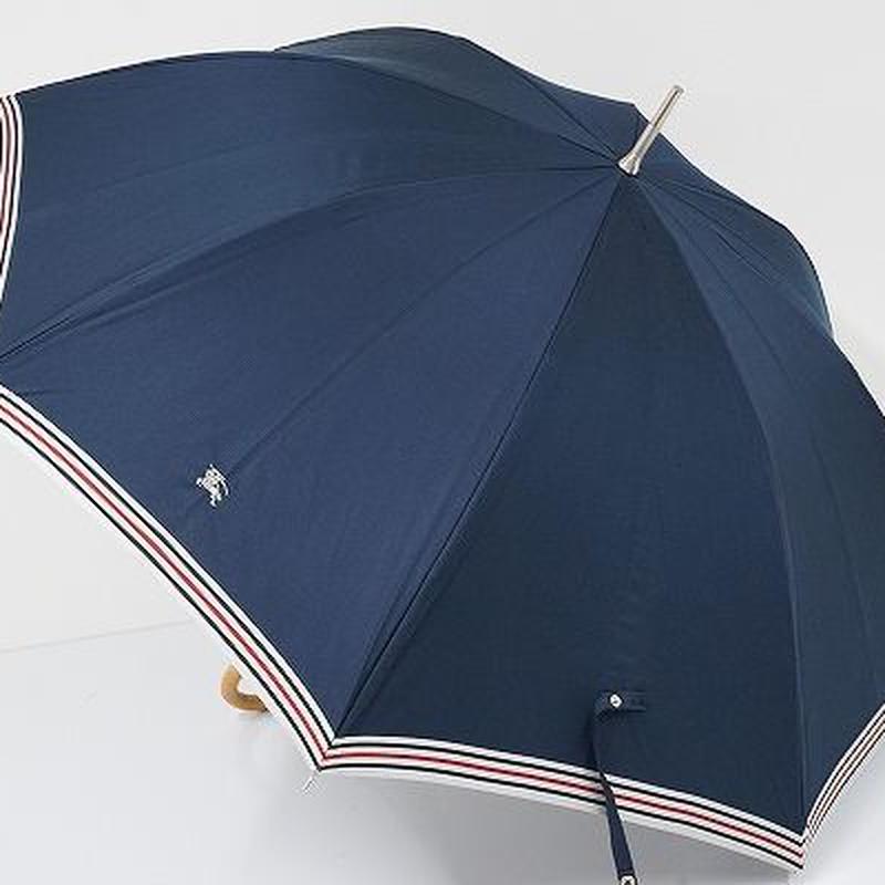 S0828 BURBERRY バーバリー 晴雨兼用日傘 USED超美品 ボーダー+ホースマーク UV 57cm 中古 ブランド